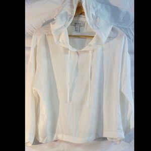 Silky Hooded Crop Top